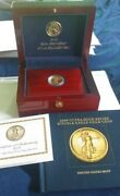 2009 Gold Ultra High Relief Double Eagle Gold Coin W/ Book Wood Display Box Coa