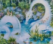Davici Wooden Jigsaw Puzzle White Dragon. New. Whimsy Details.
