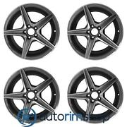 Mercedes C300d 18 Oem Amg Front Wheels Rims Set Machined With Charcoal