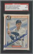 1983 Donruss Hall Of Fame Heroes Charlie Gehringer 28 Sgc Authentic Auto Hof