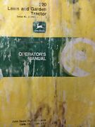 John Deere 320 Lawn Garden Tractor And Mower Implement Owners Manual S/n 130001-up