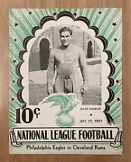 Cleveland Rams First Points And Win Vintage 1937 Nfl Football Program Rare