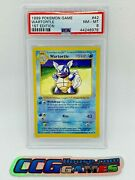 Pokemon Wartortle 42 1st Edition 3d Thick Stamp 1999 Psa Nm - Mt 8 Ccghouse