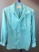 Vintage 1950's Penny's Towncraft Men's Rayon Shirt