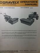 Gravely Garden Tractor 44 Power Brush Broom Implement Owner And Parts Manual 22118