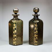 Pair Of Bristol Green Glass Decanters And Stoppers Late 18th Century
