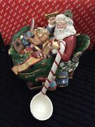 Fitz And Floyd Santaand039s List Tureen With Ladle Beautiful Christmas Piece New