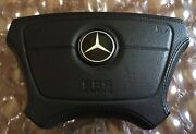 Mercedes Benz W140 S600 Black Leather Stitched Jewel Star Cover R129
