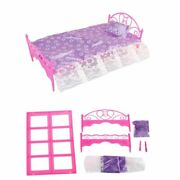 Doll Houses Pretend Play Toy Mini Furniture Bed Plastic Material Room Decoration