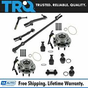 Trq 11pc Steering Suspension Kit Wheel Hub Bearing Ball Joint Tie Rod End New