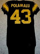Pittsburgh Steelers Team Issued Jersey Troy Polamalu 2008 Throwback Jersey