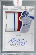 2015 Panini National Treasures Silhouette /99 Javier Baez 10 Rookie Auto