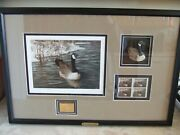Ducks Unlimited 2011 Signed Numbered Print Set 1541/3000 5 Gold Stamp And More