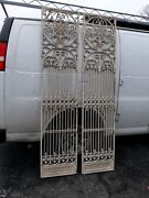 Pair Antique Wrought And Cast Iron Gate Panels Possible Elevator Doors Victorian