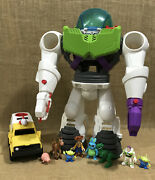 Lot Of Buzz Lightyear Robot And Shuttle Imaginext Toy Story Disney Pixar