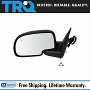 Trq 1a Side View Mirror Power Heated Black Textured Lh For Chevy Gmc