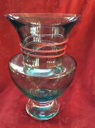 Flawless Exceptional Kosta Boda Backstrom Signed Crystal Vase Serpent Wrapped