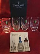 Nib Flawless Exquisite Set 4 Waterford Mixology Crystal Shot Whiskey Glasses