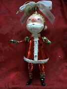 Flawless Exquisite Waterford Glass 1733 Ltd Edition Santa Christmas Ornament