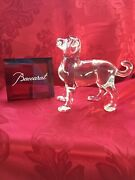 New Flawless Exquisite Baccarat France Glass Zodiac Crystal Dog Puppy Figurine