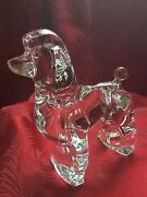 Flawless Exceptional France Baccarat Glass Crystal Caniches Poodle Dog Figurine