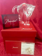Nib Flawless Exceptional Baccarat Glass Crystal Pouncer Arched Back Cat Figurine