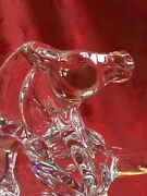 Flawless Exquisite Baccarat Art Glass Rearing Cheval Collection Horse Figurine B