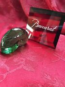 Flawless Exquisite Baccarat Art Crystal Nautilus Green Sea Shell Snail Figurine