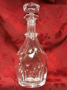 Flawless Stunning Baccarat France Harcourt 1841 Glass Crystal Decanter And Stopper