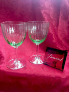 Flawless Stunning Baccarat France Two Aquarelle Glass Crystal Water Wine Goblets