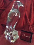 Mif Flawless Exquisite Baccarat Glass Crystal Falcon Bird Raptor Eagle Figurine