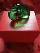 Nib New Flawless Exquisite Baccarat Crystal Nautilus Sea Shell Snail Figurine