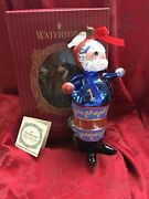 Flawless Exquisite Waterford Glass Ltd Edition Majestic Santa Christmas Ornament