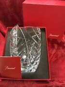 New Nib Flawless Exceptional Baccarat Art Glass Menthe Optic Crystal Flower Vase
