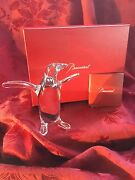 Mib Flawless Exquisite Baccarat France Glass Crystal Penguin Figurine Sculpture