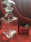 Flawless Baccarat Glass Perfection Crystal Cordial Whiskey Decanter And Stopper