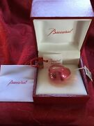 Nib Flawless Exquisite Baccarat France Crystal Galet Pink Tourmaline Ring Size 7