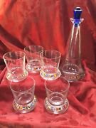Flawless Baccarat Cap Horn Ltd Edition Crystal Decanter Stopper And Dof Beakers