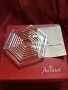 Flawless Exquisite Baccarat Crystal Orsay Bottle Wine Coaster Dish Trivet Plate