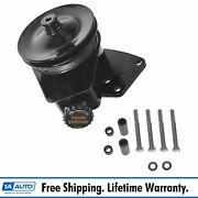 Borgeson Power Steering Pump W/ Bracket Upgrade For Ford Lincoln Mercury