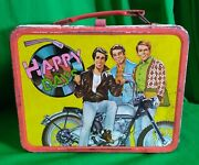 Happy Days Tv Show Vintage Metal Lunch Box 1976 Great Condition