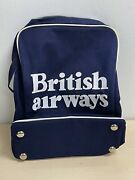 British Airways Vintage Carry On Bag With Chrome Feet - Excellent Condition