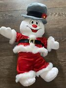 Frosty The Snowman 18 Build A Bear Cheeks Light Up, Hat And Santa Outfit