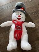Glowing Frosty The Snowman Build A Bear 18 Plush Stuffed Snowman Hat And Scarf