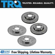 Trq Front And Rear Brake Rotor Kit Of 4 For Buick Chevy Pontiac Saturn Suv Truck