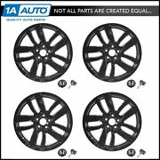 Oem Alloy Rim Wheel W/ Hub Cap And Tpms Kit Set Of 4 Black 20 Inch For Honda Pilot