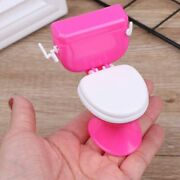 Doll Houses Bathroom Furniture Toilet Bowl With Tissue Holders Plastic Materials
