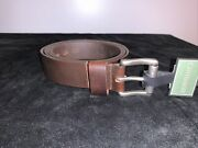 """Canterbury Men's Genuine Leather Brown Belt 1.25"""" Size 52 New"""