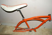 60and039s Custom Schwinn Orange Krate Set Great Condition - Frame Seat And Chainguard