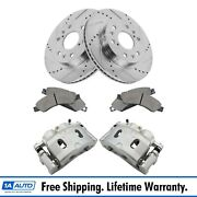 Disc Brake Caliper Posi Ceramic Pad And Performance Rotor Front Kit For Chevy New
